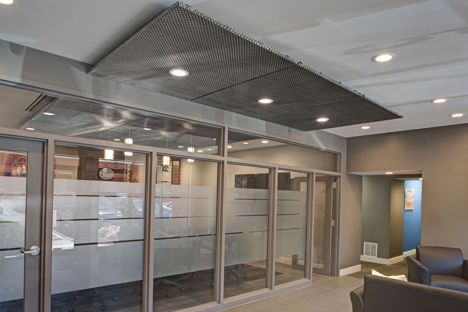 Commercial Group, Baltimore, King Design Conference Room Ceiling, GKD Metal Fabric Atlantic