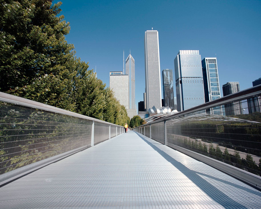 Modern Architecture Chicago gkdmetalfabrics | blog | gkd steel bridge offers safety, security