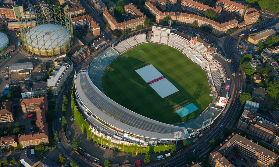 Oval Cricket Ground Kia Oval, Rolfe Judd Architects, GKD Tigris Twist