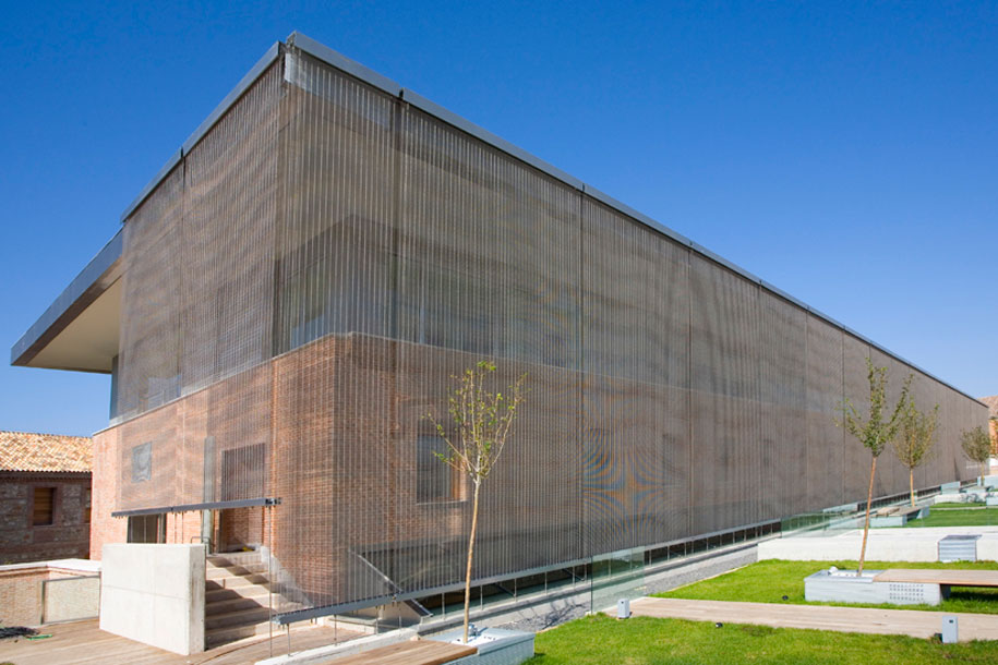 gkdmetalfabrics blog architects use transparent metal mesh on