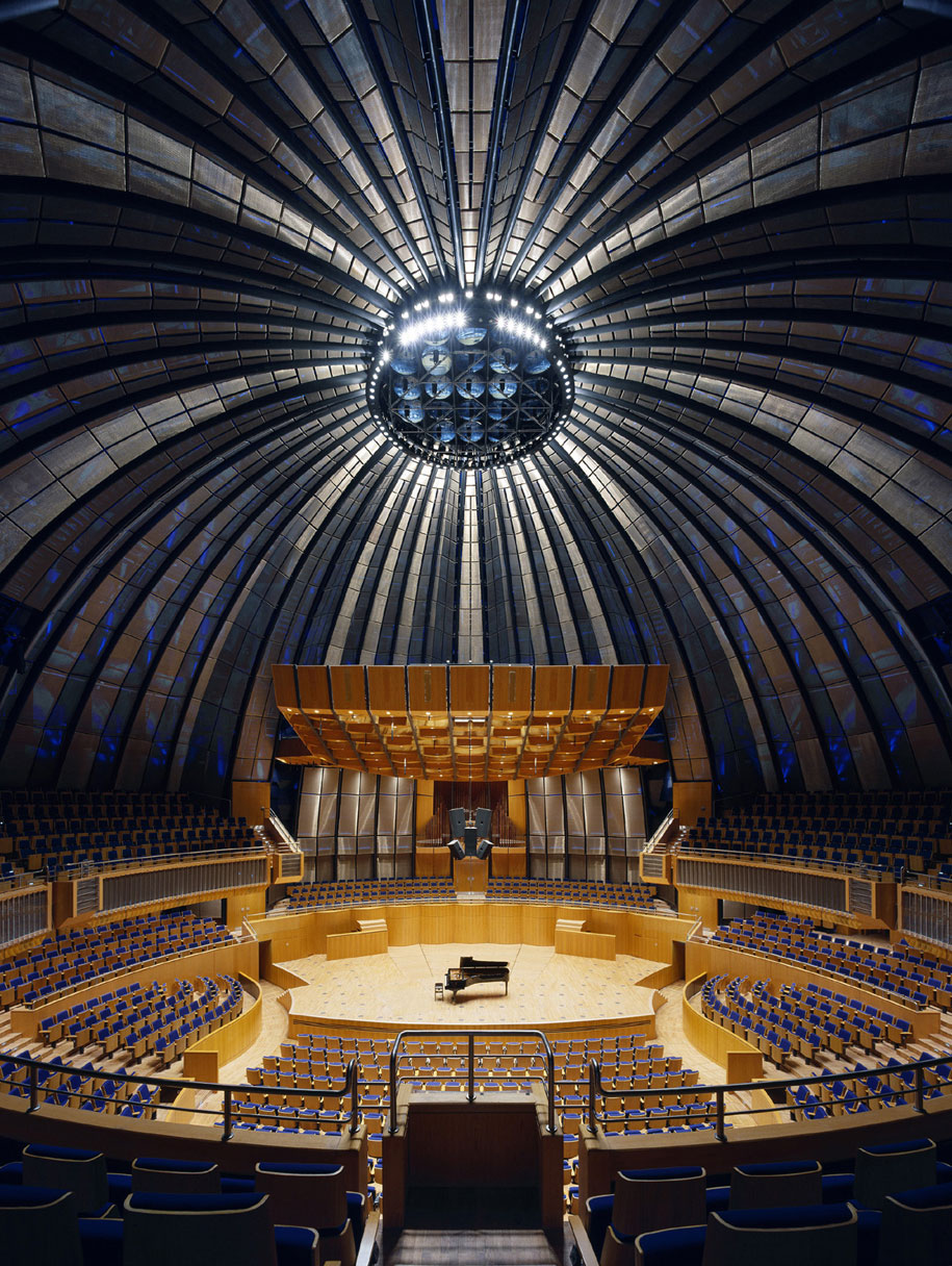Tonhalle Dusseldorf, Hentrich Petschnigg Partners HPP, GKD Omega 1540 Metal Mesh, Photography artur Tomas Riehle