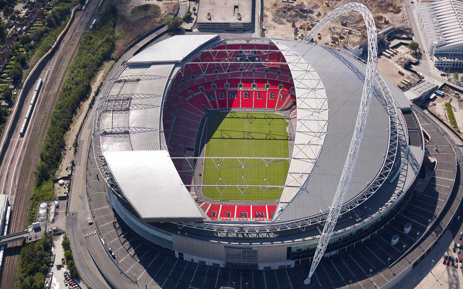 Wembley Stadium, Norman Foster, London 2012 Olympic Football, GKD Tigris Stainless Steel Mesh, Stadium