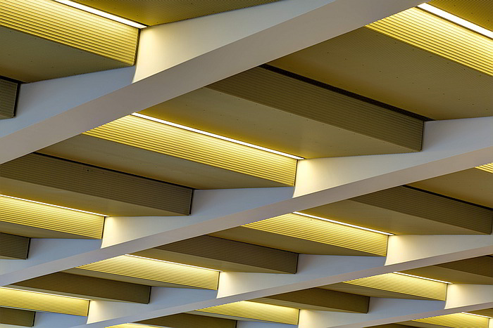 GKD Golden Aluminum Metal Mesh Ceiling detail