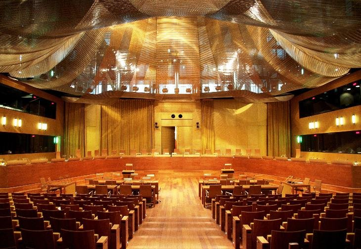Gkdmetalfabrics European Court Of Justice Wall Ceiling