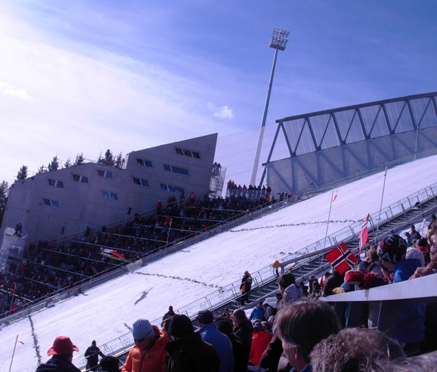 BMW Van Nuys >> GKDMETALFABRICS | Holmenkollen ski ramp Sambesi façade for safety and security