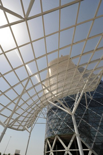 gkdmetalfabrics capital tower furthest leaning tower tigris  sunshade